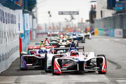 Felix Rosenqvist, Mahindra Racing, Sam Bird, DS Virgin Racing, Mitch Evans, Jaguar Racing