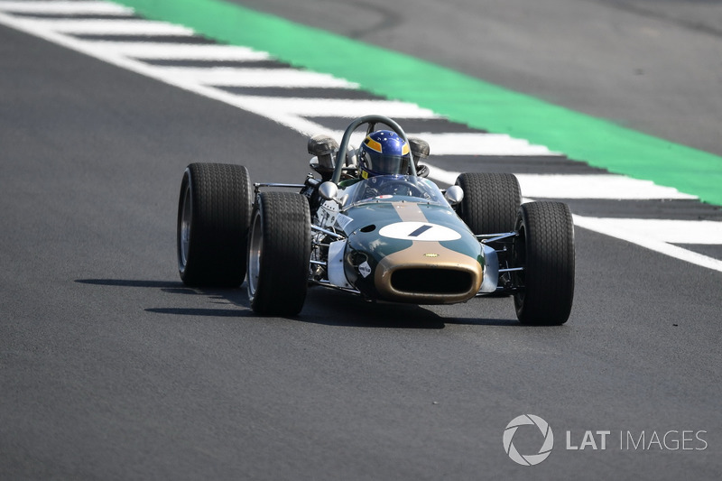 Lotus Ford 49 at Silverstone 70th Anniversary Parade