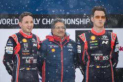 Winners Thierry Neuville, Nicolas Gilsoul, Hyundai i20 WRC, Hyundai Motorsport, Michel Nandan