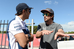 Felipe Massa, Williams and Fernando Alonso, McLaren