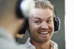 Nico Rosberg in de pits