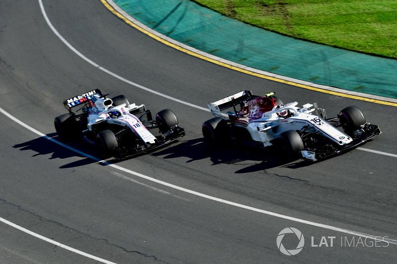 Charles Leclerc, Sauber C37 e Sergey Sirotkin, Williams FW41