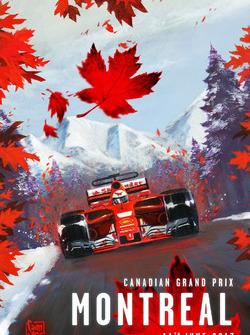 Постер Ferrari к Гран При Канады