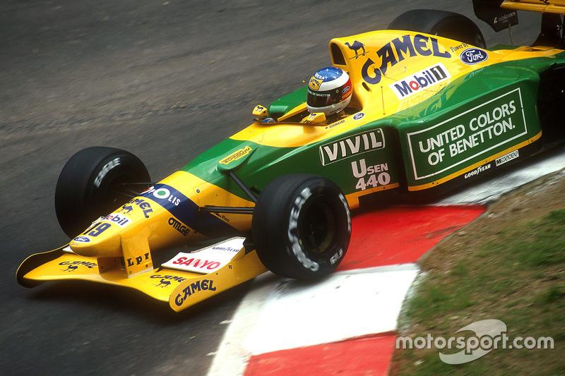1992: Benetton - 3º lugar, 1 vitória, 53 pontos, 16 GPs