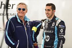Jean Paul Driot avec Sébastien Buemi, Renault e.Dams