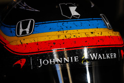 The helmet of Fernando Alonso, Andretti Autosport Honda