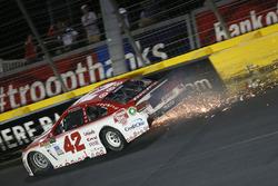 Crash: Kyle Larson, Chip Ganassi Racing, Chevrolet