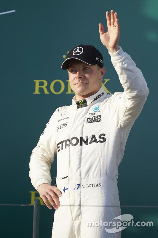 Valtteri Bottas, Mercedes AMG, 3rd Position, on the podium