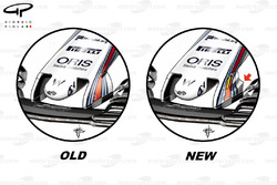 Williams FW40 old vs new nose