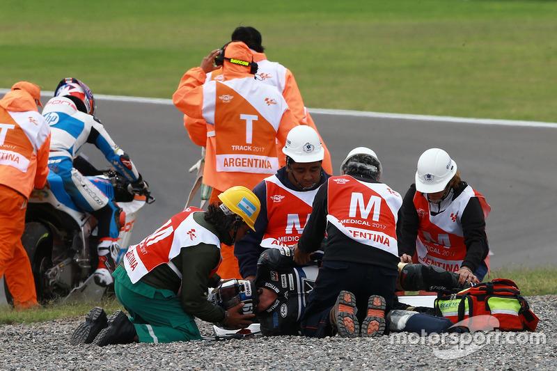 Axel Pons, RW Racing GP, nach Sturz