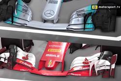 Analyse vidéo comparant la Mercedes à la Ferrari