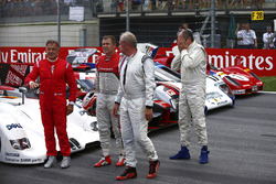 Jean Alesi, Helmut Marko, Consultant, Red Bull Racing, Tom Kristensen and Gerhard Berger for the Legends Parade