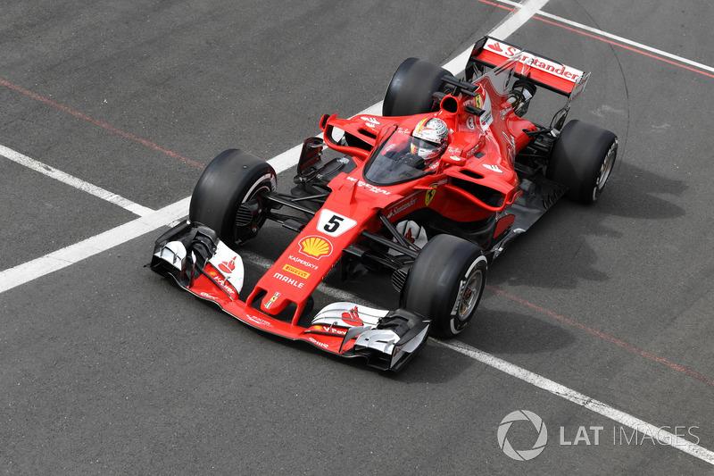 Себастьян Феттель, Ferrari SF70H, щит