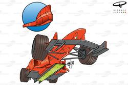 Ferrari F399 (650) 1999 undertray and turning vane detail