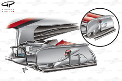 McLaren MP4-25 front wing (old specification inset)