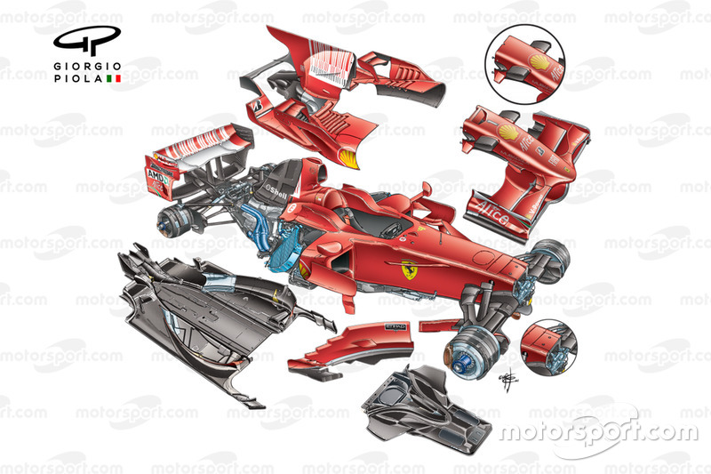 Ferrari F2008 (659) 2008 exploded detail view