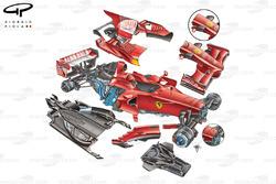 Ferrari F2008 (659) 2008 exploded detail view