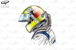 Ralf Schumacher with HANS device
