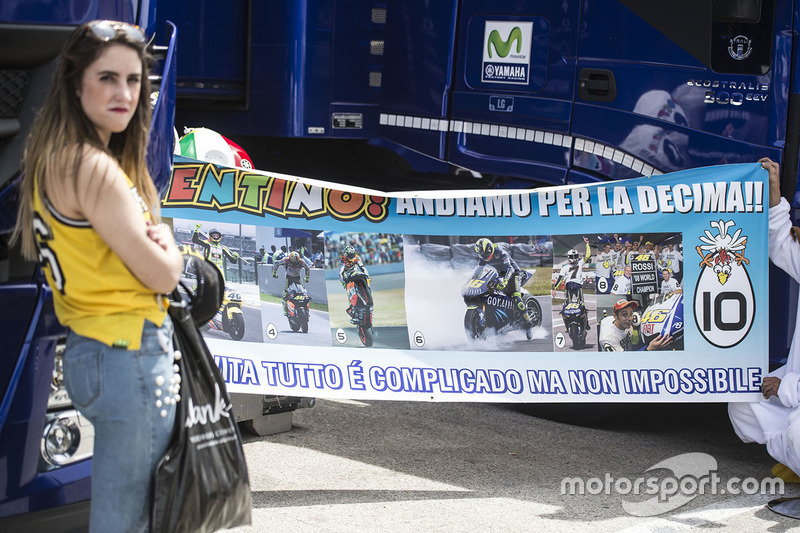Banner for Valentino Rossi, Yamaha Factory Racing