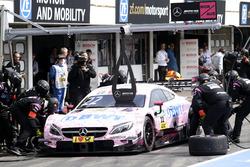 Boxenstopp: Lucas Auer, Mercedes-AMG Team HWA, Mercedes-AMG C63 DTM