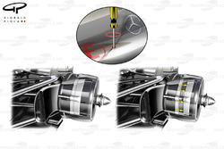 McLaren MP4-27 adjustable rear brakes detail