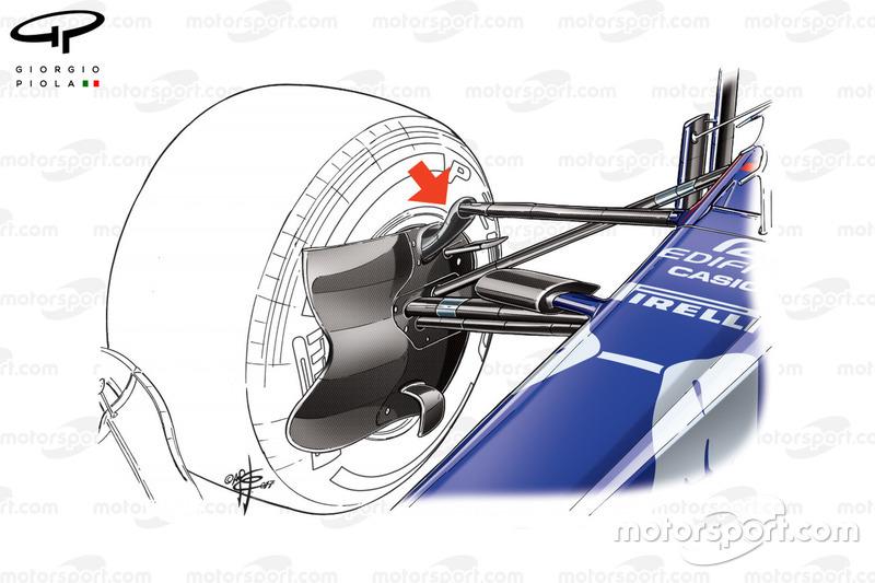 Toro Rosso STR12 front suspension, captioned