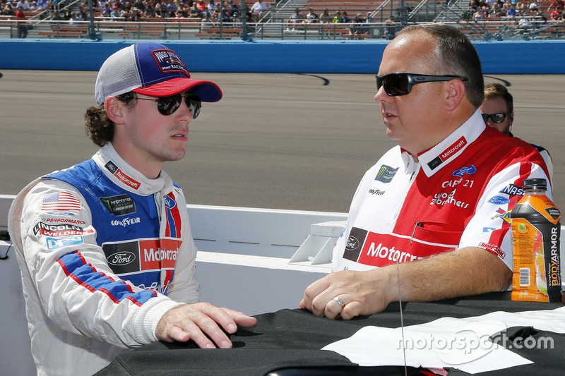 Ryan Blaney, Wood Brothers Racing Ford y Jeremy Bullins