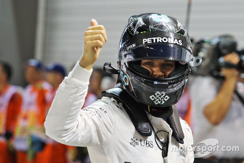 Pole position pour Nico Rosberg, Mercedes AMG F1 W07 Hybrid
