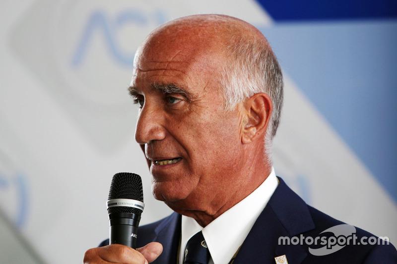 Dr. Angelo Sticchi Damiani, Aci Csai Başkanı, Monza Pist açıklamasında
