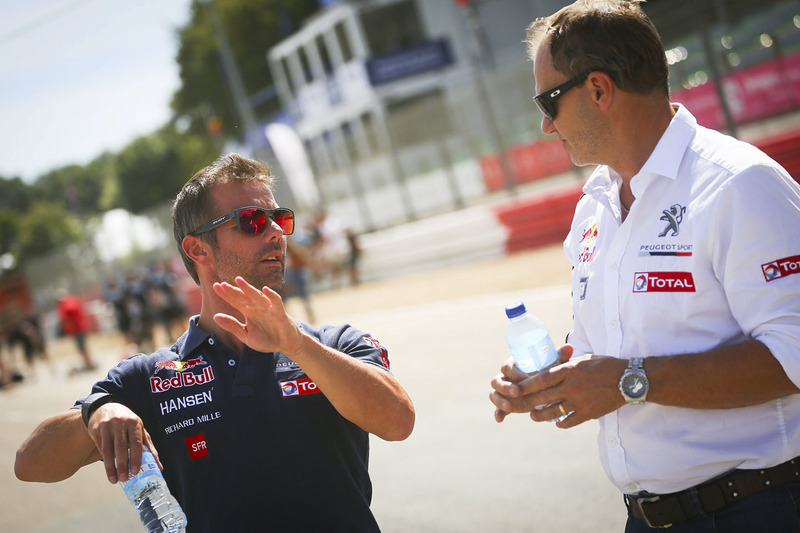 Sébastien Loeb, Team Peugeot Hansen and Kenneth Hansen