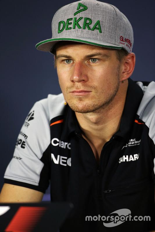 Ніко Хюлькенберг, Sahara Force India F1 під час прес-конференції FIA