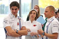 Valtteri Bottas, Williams; Lance Stroll, Williams; Claire Williams, Williams, Stellvertretende Teamc