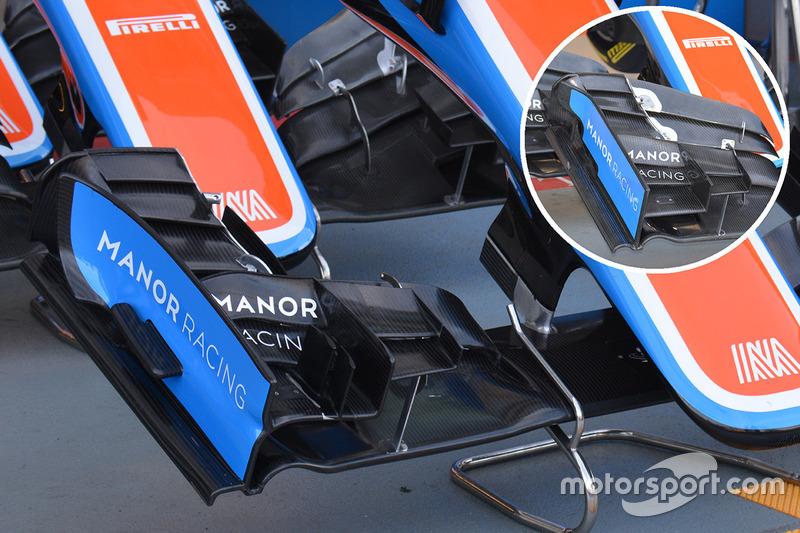 Manor MRT05 dettaglio ala anteriore