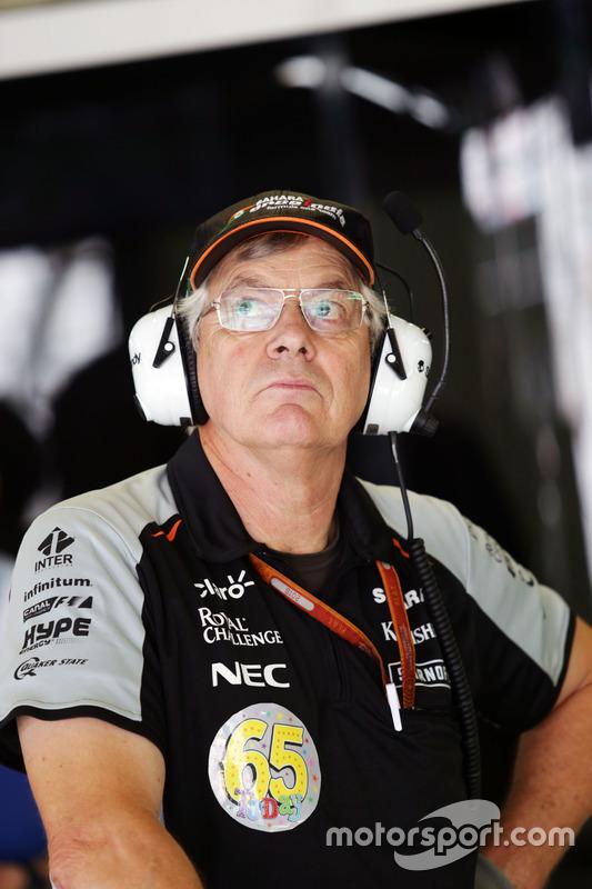 David 'Foggy' Fogden, Sahara Force India F1 Team, who is celebrating his 65th Birthday