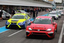 Benjamin Leuchter, Racing One, VW Golf GTI TCR; Antti Buri, LMS Racing, SEAT Leon TCR