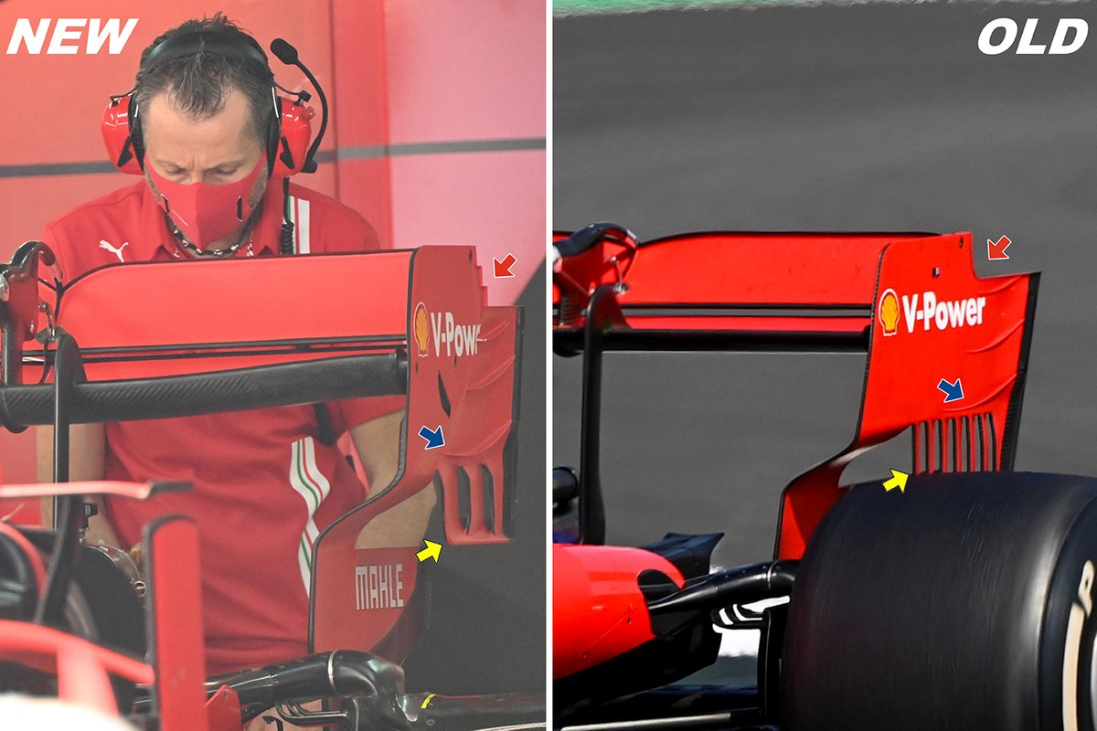 Ferrari SF1000 rear wing comparison