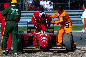 Gerhard Berger, Ferrari retires from the race
