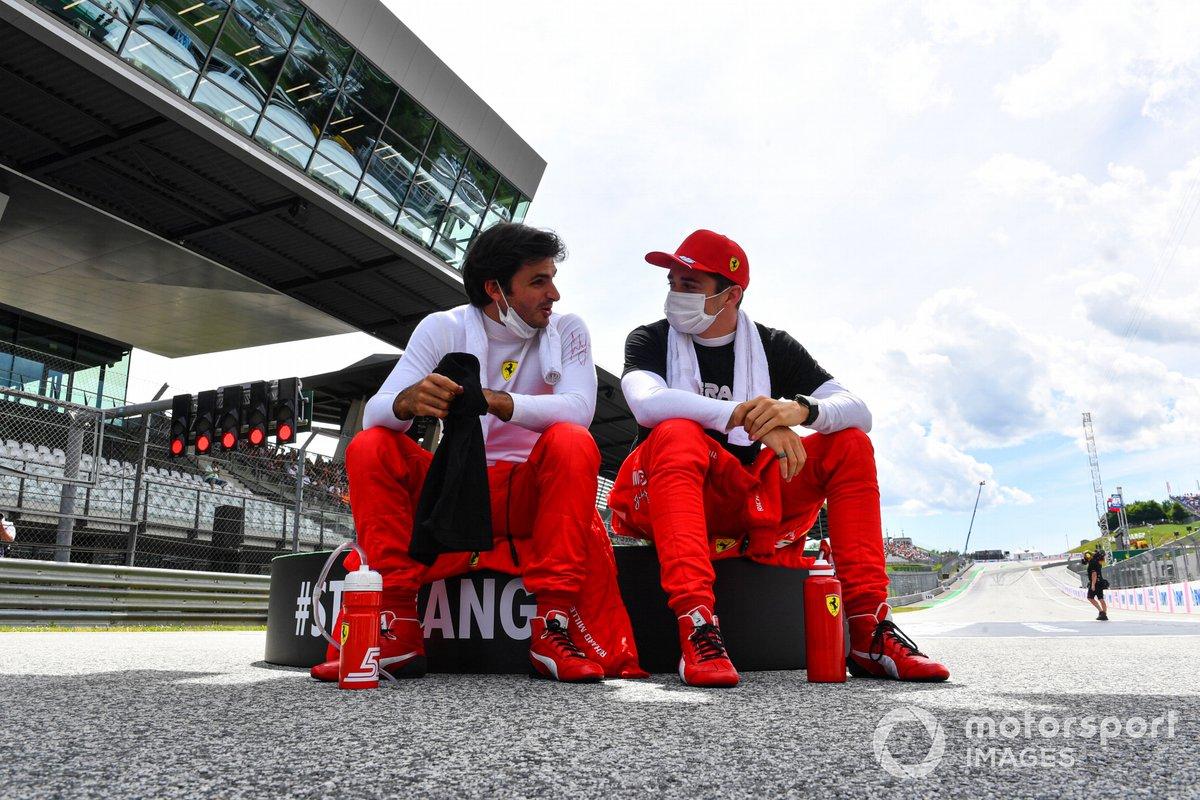 Carlos Sainz Jr., Ferrari, and Charles Leclerc, Ferrari