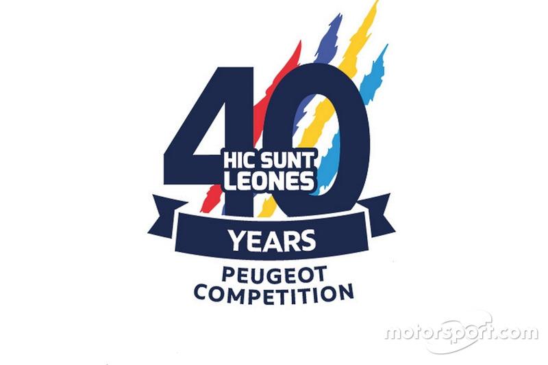 Logo 40° anniversario Peugeot Competition