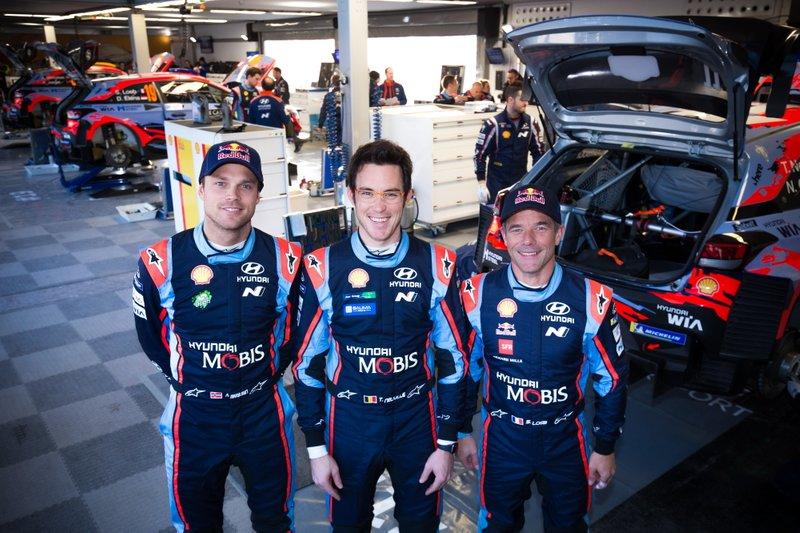 Andreas Mikkelsen, Hyundai Shell Mobis WRT, Thierry Neuville, Hyundai Shell Mobis WRT, Sébastien Loeb, Hyundai Shell Mobis WRT