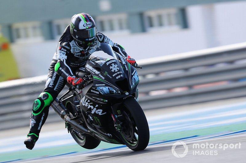 Leon Haslam, Kawasaki Racing, brusca frenata