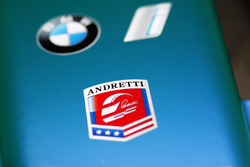 Andretti logo on the nose of the Andretti Formula E Team car