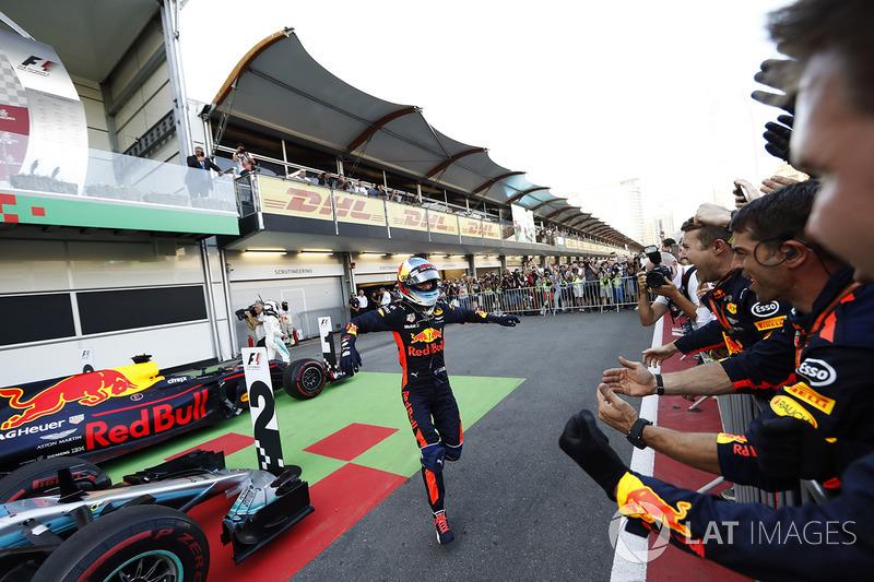 Gran Premio de Azerbaiyán: la bandera del país en el parc ferme