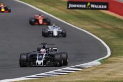 Romain Grosjean, Haas F1 Team VF-17, Lance Stroll, Williams FW40 and Fernando Alonso, McLaren MCL32