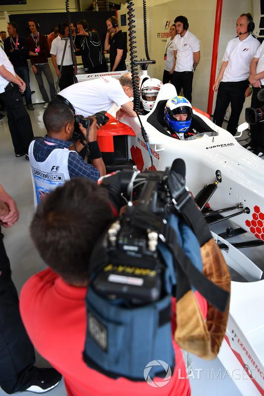 David Saelens, F1 Experiences coche de 2 plazas con Owen Wilson, Actor