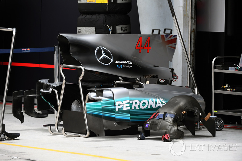 Mercedes F1 W08: Motorhaube