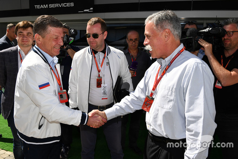 Dmitry Kozak, Deputy Prime Minister of the Russian Federation and Chase Carey, Chief Executive Offic