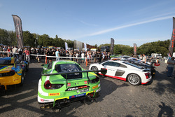 GT3 cars and Audi leading car on display