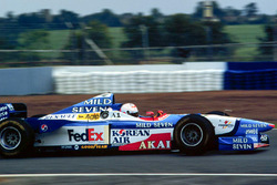Martin Brundle tests the Benetton Formula 1 car