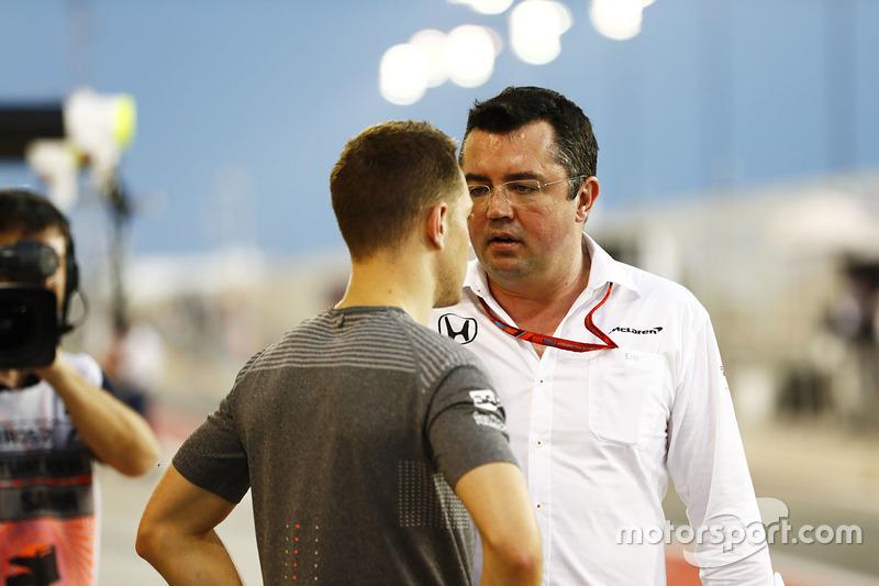 Stoffel Vandoorne, McLaren, Eric Boullier, Racing Director, McLaren